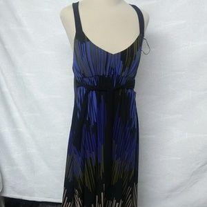Nine West Blue Print Cocktail Dress.
